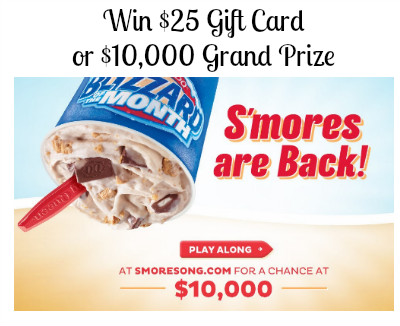 dairy queen 90 Free $25 Dairy Queen Gift Card Plus Win $10,000!