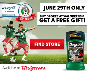 degree mnt Free Gift with Degree Deodorant Purchase at Walgreens!