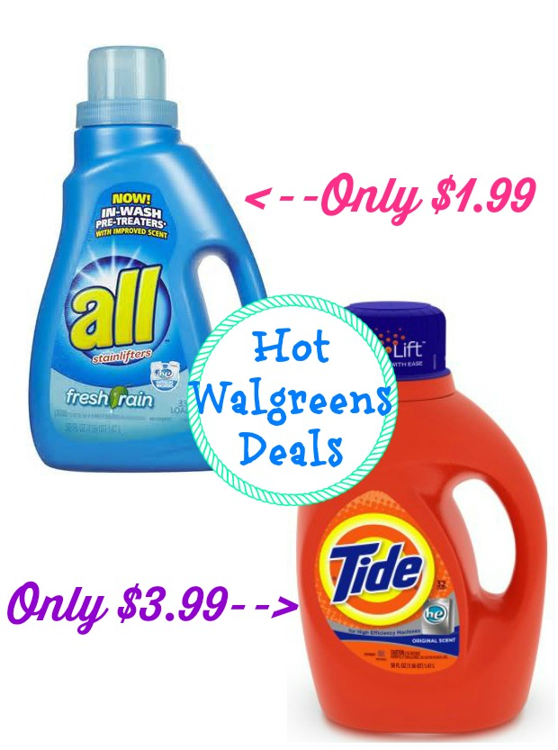 detergents HOT All and Tide Detergent Deals at Walgreens!