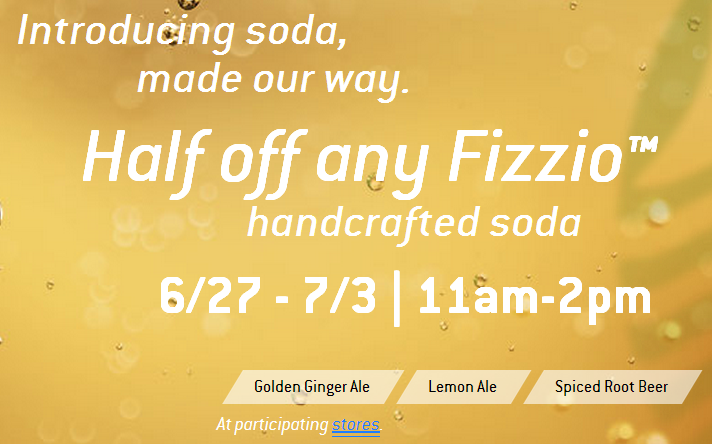 fizzio 1/2 Off Fizzio Handcrafted Sodas at Starbucks!