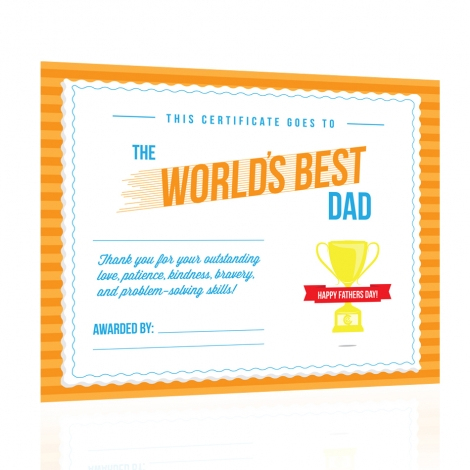 free printable world s best dad certificate