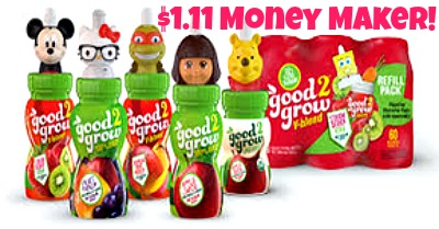 good 2 grow juice 289x151 HOT! FREE Good2Grow Juice Bottle and Refill Pack + $1.11 Moneymaker at Kroger!