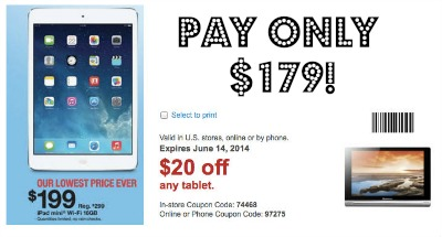 ipad1 Ipad Mini only $179.99 at Staples!