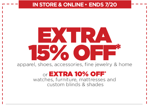 jcpenney JCPenney Extra 15% Off Coupon (Includes Clearance!)!