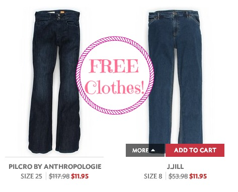 jeans 1 FREE $20 – $30 Credit to Twice = FREE Clothes!