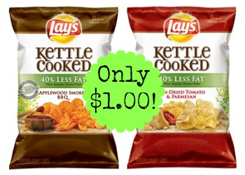 lays kettle cooked less fat chips Lays Kettle Cooked Chips only $1.00 at Kroger!