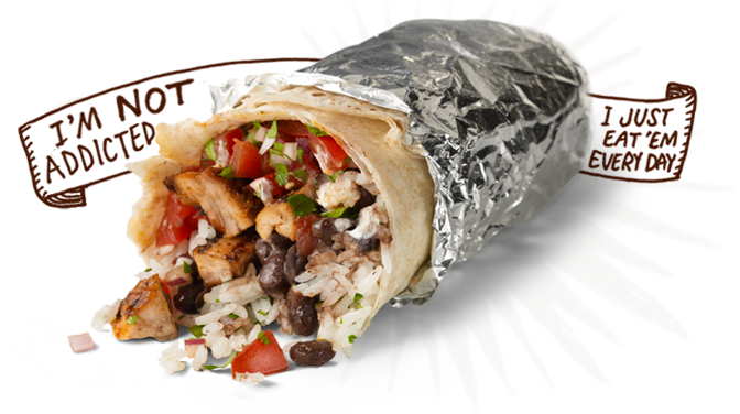 menu burrito Chipotle: FREE Burrito, Bowl, Salad or Tacos!