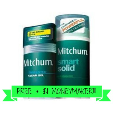 mitchum FREE + $1 Moneymaker on Mitchum Deodorant at ShopRite!