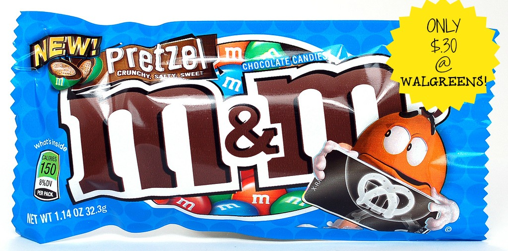 mms BOGO Pretzel M&Ms Coupon= Only $.30 at Walgreens!
