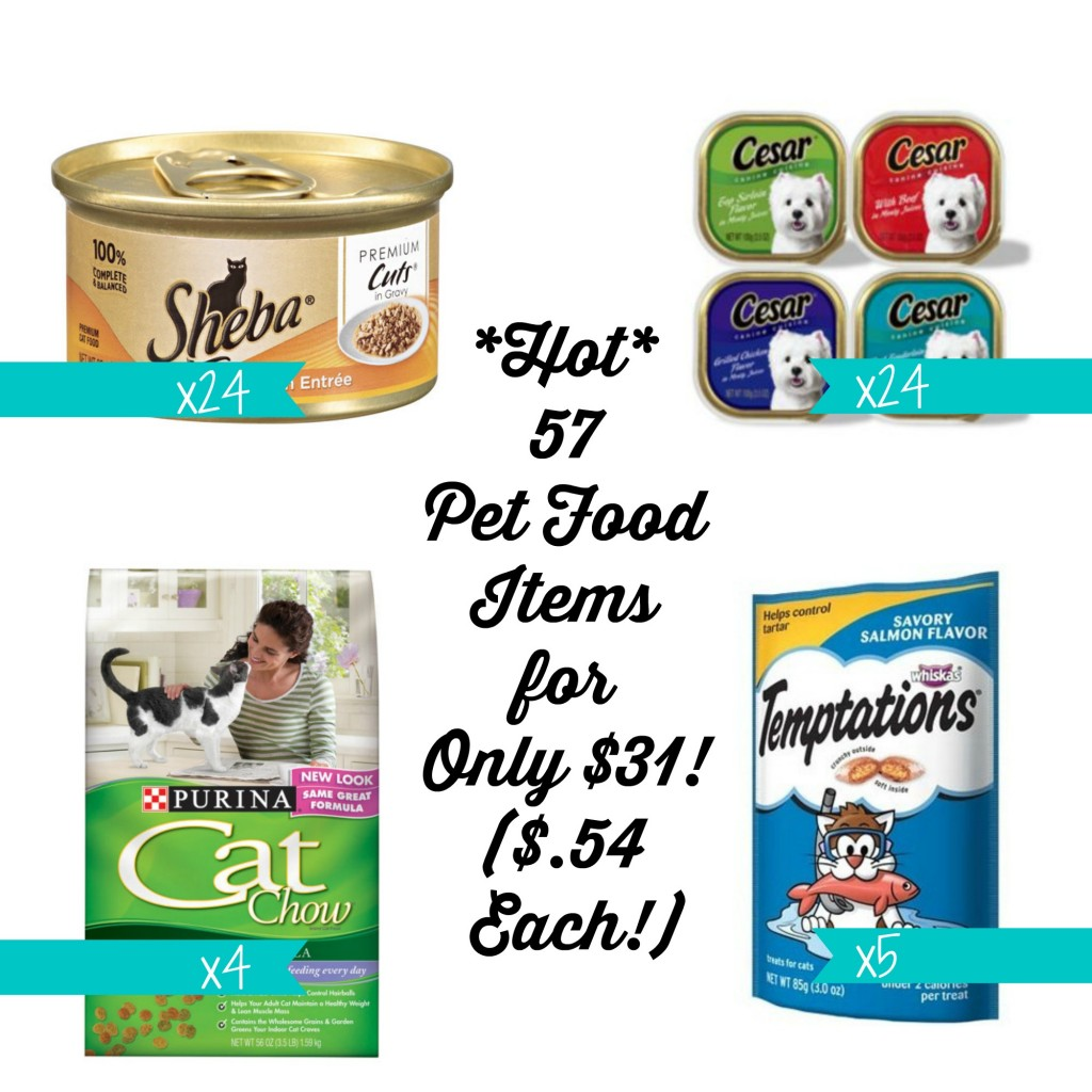 petfood1 1024x1024 HOT! 57 Pet Food Items at Target for Only $31 ($.54 Each!)