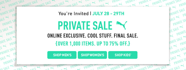 puma2 PUMA Private Sale:  Save up to 75% off Sale Items!