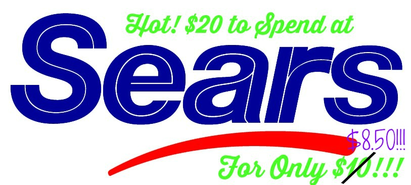 sears logo1 HOT! $20 To Spend at Sears for Only $8.50!!!