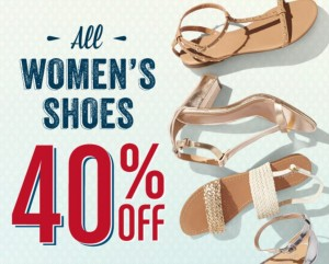 shoesale 300x241 Old Navy: 40% Off ALL Womens Shoes! TODAY ONLY