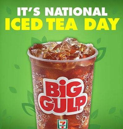 tea FREE Big Gulp Iced Tea from 7 Eleven!