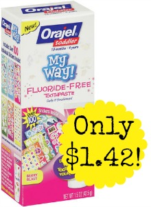 0031031032342 500X500 Orajel My Way Toothpaste only $1.42 at Walgreens!