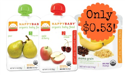 3PouchesWEB 2 Happy Baby Pouches only $0.53 at Target!