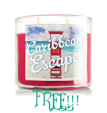 3wick1 FREE 3 Wick Candle From Bath & Body Works With Purchase! TODAY ONLY!