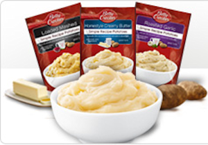 BettyCrockerPotatoPouches NEW $1/4 Betty Crocker Potato Pouches Coupon