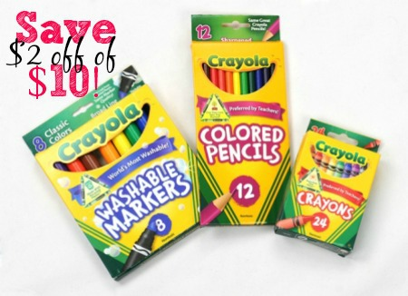 Crayola Green BTS WEB 1 Final1 RARE $5 off of $15 Crayola Triple Stack Coupons + Free $5 Target Gift Card!!