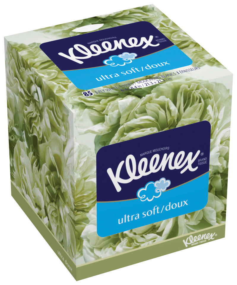 KLEENEX ULTRA FACIAL TISSUE UPRIGHT WHITE 85 Kleenex only $0.57 at Walgreens!
