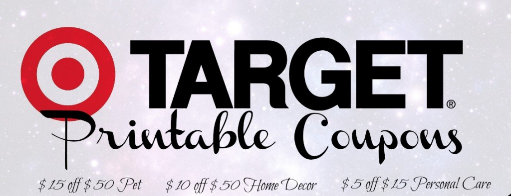 Target printable coupon 1024x394 3 Great Target Coupons: $5 off $15 Personal Care, $10 off $50 Home Decor and $15 off $50 Pet Purchase!