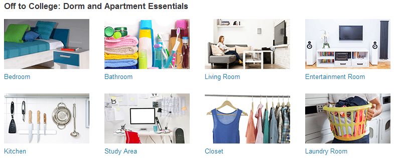amazon off to college dorm apartment essentials sale