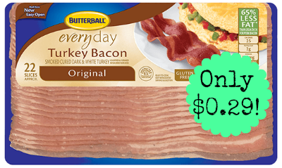bacon1 Butterball Turkey Bacon only $0.29 at Walgreens, Starting 7/20!
