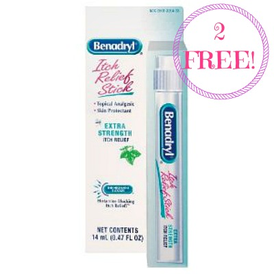 benadryl itch stick 2 FREE Benadryl Anti Itch Sticks at CVS!