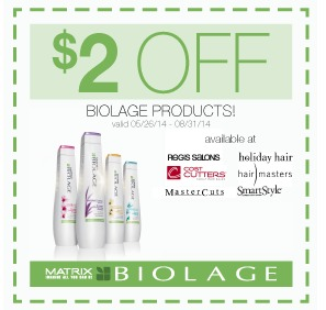picture regarding Mastercut Coupons Printable referred to as Salon Coupon codes: Preserve $2 upon Biolage, $2 off of a Hair Lower, and