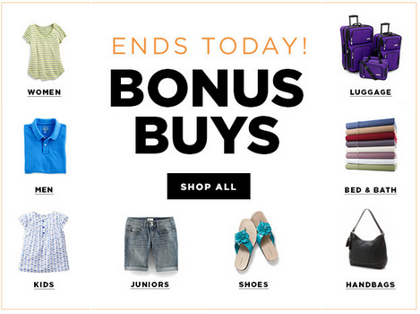 bonusbuys HOT! Kohls  Bonus Buys + Stackable Coupon Codes!