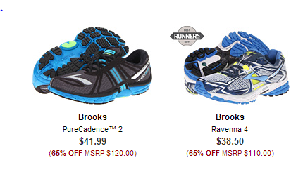 brooks 6pm: Up to 75% Off Brooks Shoes and apparel   as low as $24.99 shipped (reg $100)