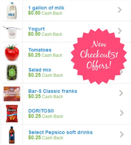 checkout512 Save on Milk, Yogurt,Doritos, Pepsi, Tomatoes, Hot Dogs, Salad Mix, and More with Checkout51!