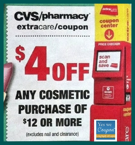 cosmeticcoupon $4 Any Cosmetic Purchase of $12 or More CVS Coupon!