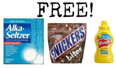 deal3 FREE Alka Seltzer, Frenchs Mustard, and Snickers Bites at Kmart!
