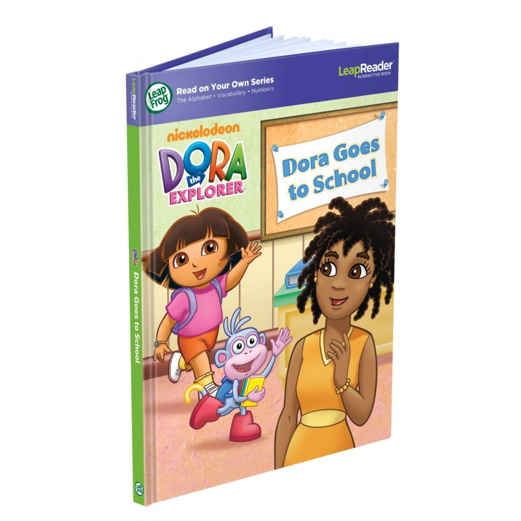dora 1024x1024 LeapFrog LeapReader Book: Dora Goes to School Only $10.01 (Reg. $16.99)