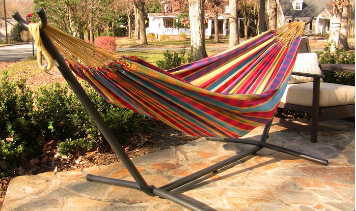 vivere 8 ft double hammock with stand only  99 99  reg  159 97   rh   mojosavings