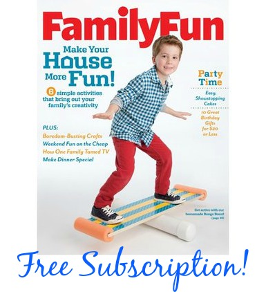 family fun magazine FREE 1 Year Subscription to Family Fun Magazine!