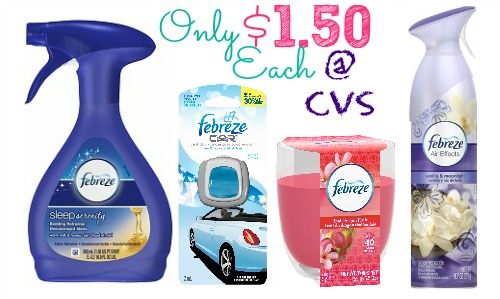 febreze1 Febreze Products Only $1.50 Each at CVS!