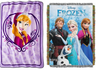 frozen  Disney Frozen Throw Blankets, as Low as $19.99!