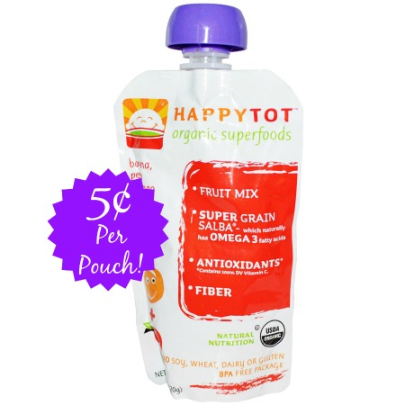 happy tot HappyTot Organic Food Pouches only $0.05 Each at Target!