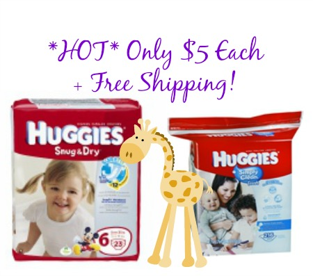 huggies Huggies Diapers and Wipes Jumbo Packs Only $5 Each Shipped FREE from Walgreens!