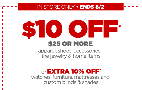 jcpenneycoupon JCPenney $10 off of $25 Coupon (Includes Clearance!)!