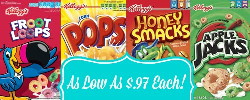 kelloggs cereal Kelloggs Cereal As Low As $.97 Each at Rite Aid!