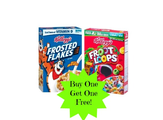kelloggs Kelloggs Cereal Buy One Get One Free at Walmart!