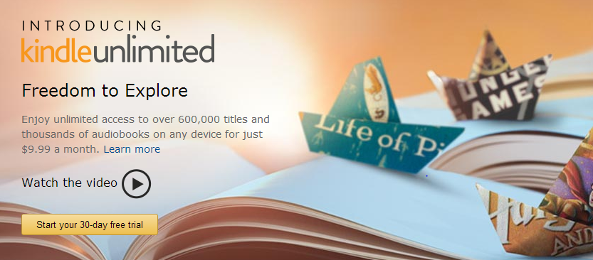 kindle unlimited Amazons Kindle Unlimited Program = Unlimited Access to 600K+ eBooks and more!