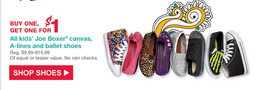 kmartshoes Buy One Get One For $1 Canvas Shoes, A Line, and Ballet Shoes from Kmart + Free Shipping!