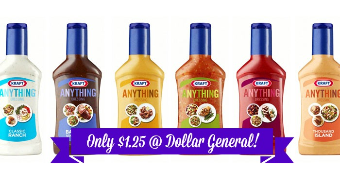 kraft Kraft Anything Dressings Only $1.25 at Dollar General!