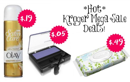 krogermegasale Kroger Mega Sale: $.49 Huggies Wipes, $.19 Gillette Satin Care, $.05 CoverGirl Eye Shadow + Deals on Noxema and Downy Unstopables!