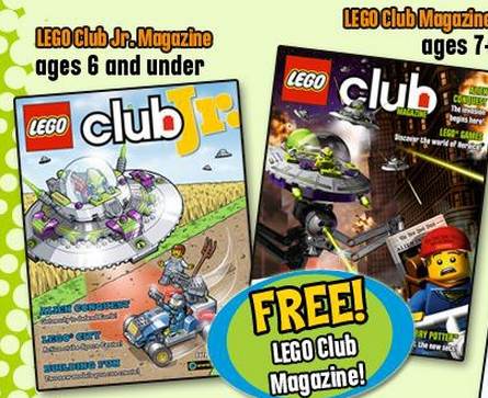 lego1 FREE LEGO Club Jr. Magazine 2 Year Subscription!