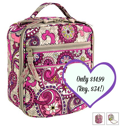lunchbag HOT! Vera Bradley Up to 75% Off + Lunch Break Lunch Bag Only $14.99 (Reg. $34!)